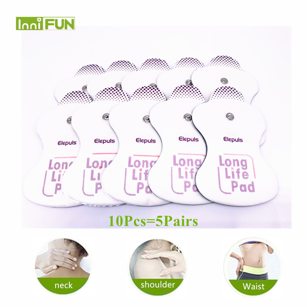 10pcs=5pairs Omron Replacement Electrotherapy Long Life Electrode Pads Self-adhesive Pens Pad with Sealed Bag zrlowr 2pcs electrode replacement pads for omron massagers elepuls long life patches