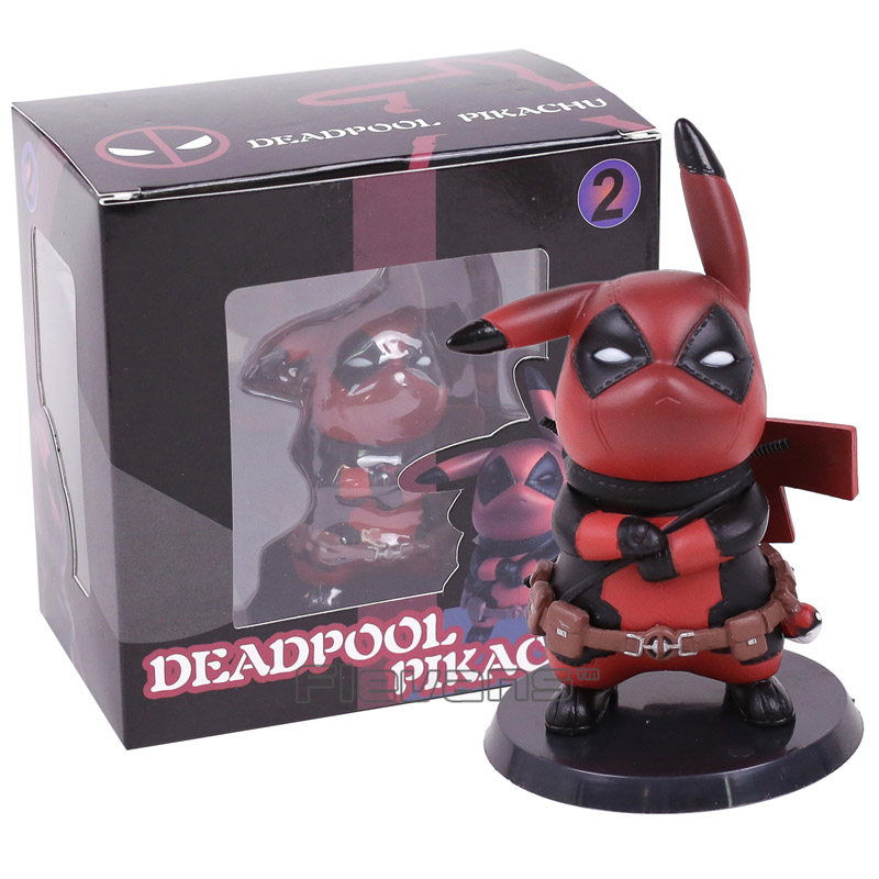 Deadpool Captain America Pikachu Mini PVC Figure Collectible Model Toy Small Size 10cm