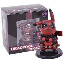 Capitão América Deadpool Pikachu Mini PVC Figura Collectible Modelo Toy Small Size 10 cm