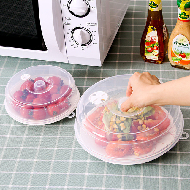 Plastic Food Cover Microwave Oven Oil Cap Heated Sealed Multifunctional Dish Dishes Dust Kitchen
