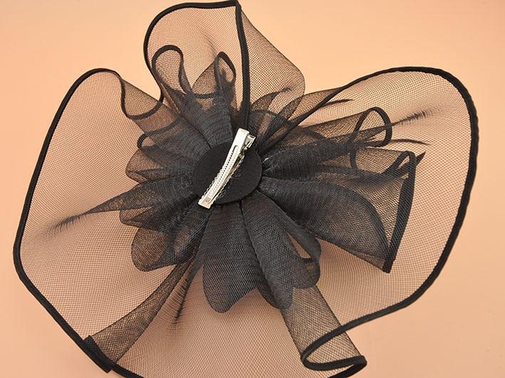 Marke weiß schwarz Feder Fascinator Haarspange Vintage Frauen - Bekleidungszubehör - Foto 5