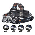 Ultra Bright 5000LM CREE XM-L T6+R2 LED Headlight Rechargeable HeadLamp 5 modes hunting camping light With Charger RJ3000