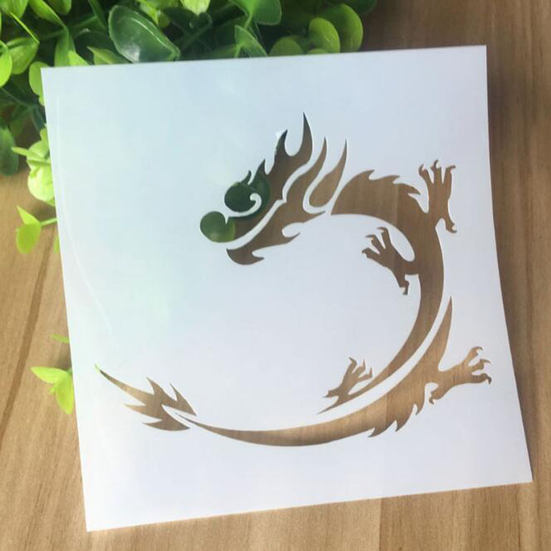 Stencil Reusable Openwork Dragon Layering Stencils For Wall Painting Scrapbooking Stamping Album Decorative Embossing Template