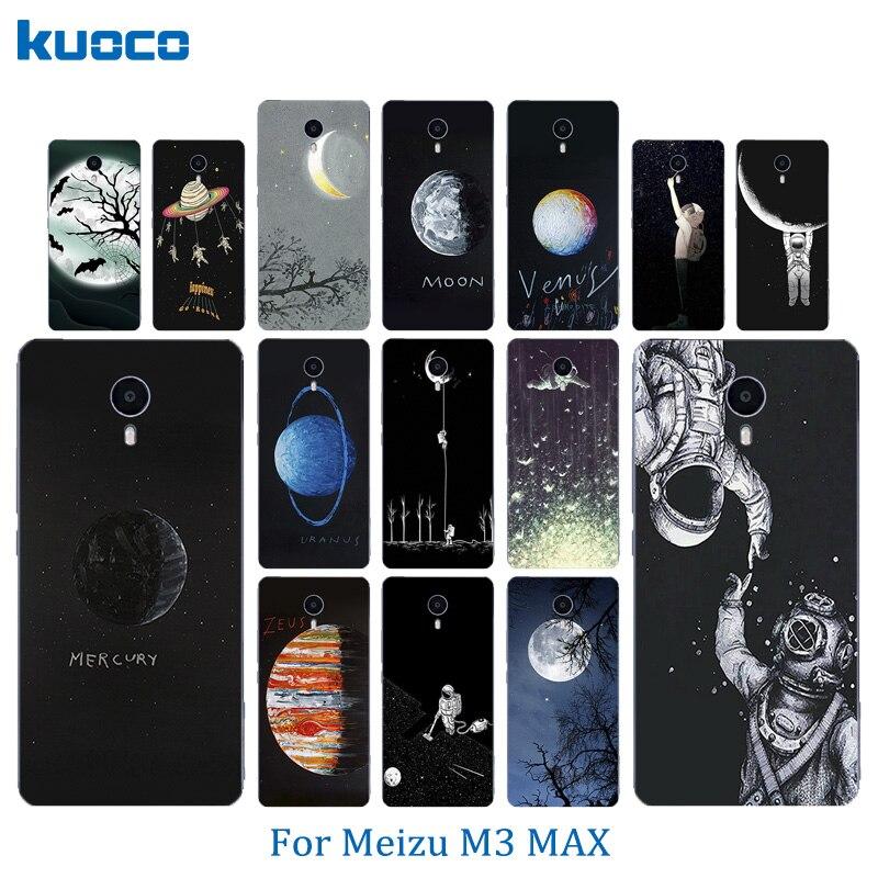 Мягкий силиконовый Телефонные Чехлы для meilan Max Meizu M3 Max Мода 6.0 дюймов В виде ракушки Чехлы для мангала кожи ультра тонкий Космос Луна узор coque