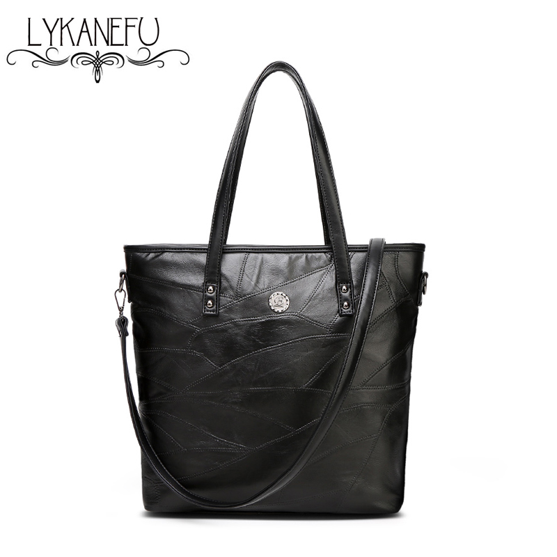 Lykanefu Huge Capacity Soft Sheep Leather Bag Tote Purse Shoulder Women Handbags Designer High Quality In Bags From Luggage