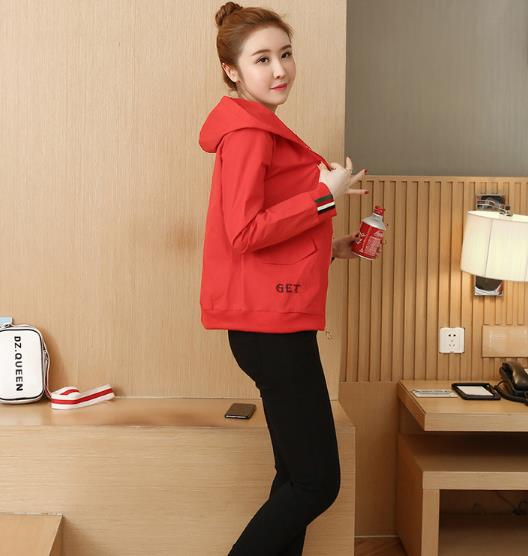 Women's Fashion new Korean version loose wild jacket Outwear baseball uniform short Womens Coat 36
