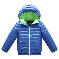 חמה למכירה סלעית מעיל חורף בני בנות בני שרוול ארוך מעיל החורף WindProof חורף ילדי ילדי מעיל (כחול 4-6 T = 120 ס