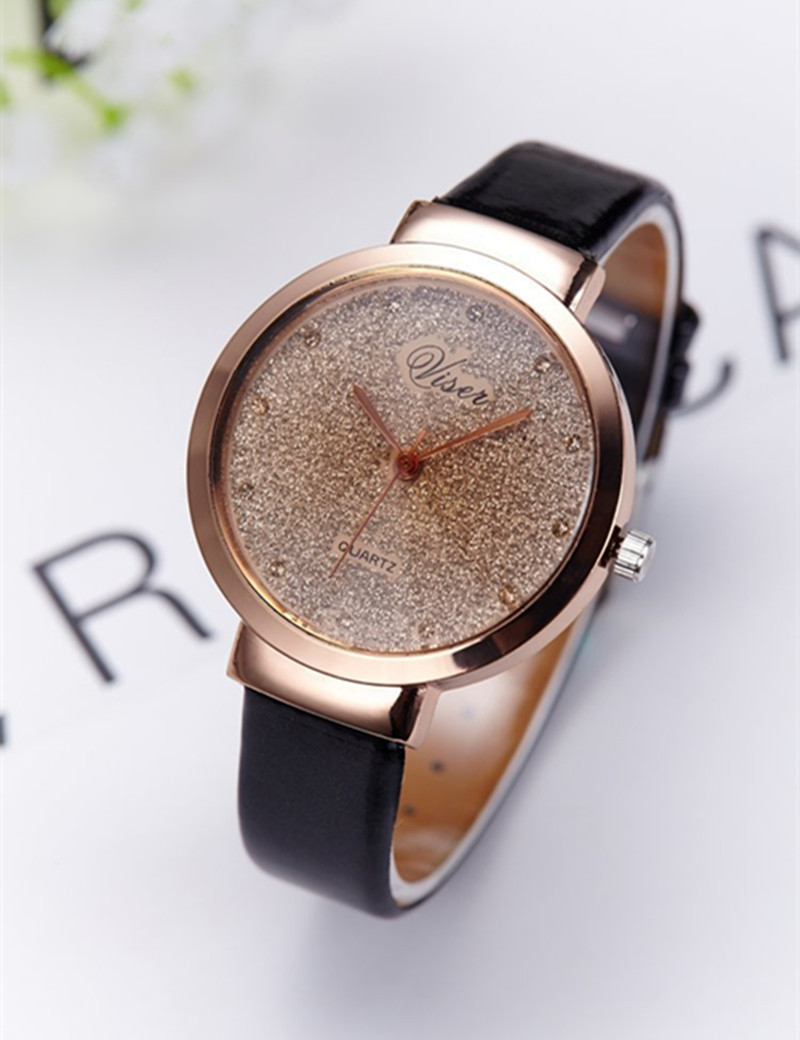 Fashion Watch Women Casual Dress Watches 2016 Famous Brand Gold  Wristwatches For Women Leather Quartz Watch Female Clock reloj kids watches children silicone wristwatches doraemon brand quartz wrist watch baby for girls boys fashion casual reloj