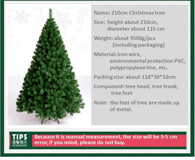 Artificial Christmas Tree Sizes.Us 173 7 210cm Christmas Tree Artificial Christmas Tree Ornaments Christmas Decorations For Home Merry Christmas Ornaments Free Shipping In Trees