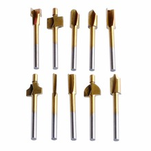 10Pcs/Set 3mm Titanium Mini Hss Router Bits Trimmer Shank For Dremel Rotary Tool New