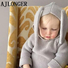 2017 Autumn Winter New Baby Boys Girl Sweaters Rabbit Cotton Pullover Kids Girls Knitted Sweater For 1-5Y Girls Boys Sweater