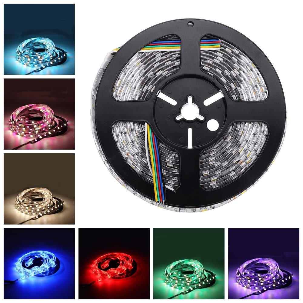 5//10//15//20M Waterproof LED Strip Light 5050 3528 SMD RGB 300LEDs Controller 12V