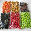 100 pçs/set mini frutas artificiais falso frutas decoração modelo simulação pequena cereja hawthorn pêra crianças brinquedo decoração de casa