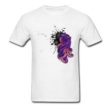 Men T Shirts Octopus Ink Blast Design Tops Funny Tee Shirt Normal T-Shirt Summer Fall Clothes 100% Cotton Crew Neck Short Sleeve men heartbeat husky t shirt funny t shirt for dog lover funny crew neck short sleeve clothes pure cotton tee shirt 4x 5x t shirt