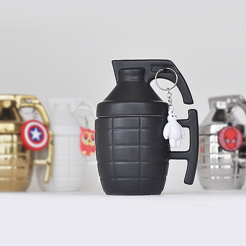 Funny Grenade Mug With Lid Spoon Creative Military Bomb Ceramic Coffee Tea Cup 280ml Porcelain Novelty