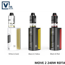 Original MOVE 2 240W med Turbo RDTA-tankkit Batteri Mod 240W E Cigarett 18650 ingår inte Box Mod VS joyetech EVic Primo kit