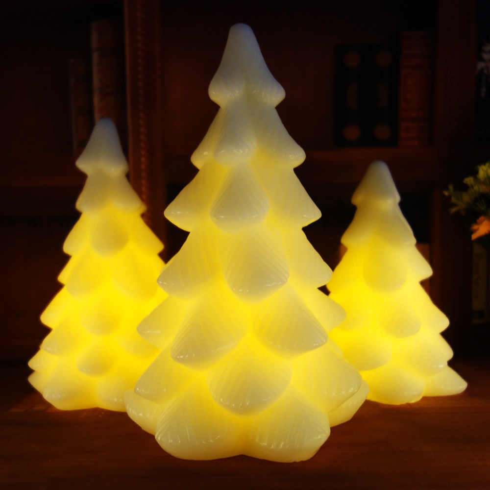 Remote Control Flickering Scented Christmas Flameless LED Candle bougie Bulk velas Electric Candles chandelle Wedding Decoration