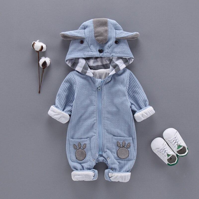 Newbrown outono & inverno bebê recém-nascido roupas jumper meninos macacão com capuz macacão roupas bebê bebe menino macacao