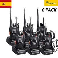 6 pcs rádio bidirecional walkie talkie acessível pofung Bf-888s baofeng 888s com 5w cb rádio scanner handheld rádio ham hf transceptor