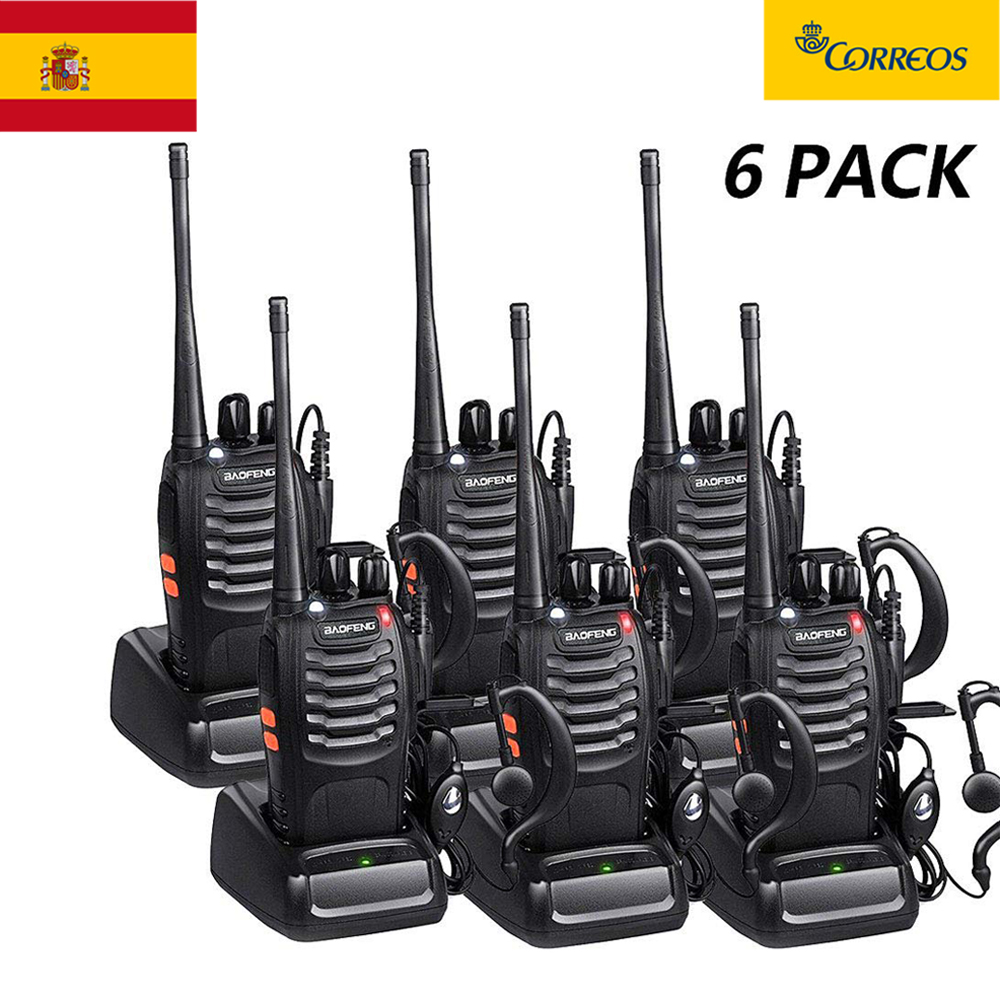 6PCS Two-Way Radio Walkie Talkie Handy Pofung Bf-888s Baofeng 888s With 5w CB Radio Scanner Handheld Ham Radio HF Transceiver