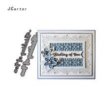 JC Metal Cutting Dies Scrapbooking Thinking of you Words Letters Die Cut Card Make Stencil Craft Folder Paper Album Alinacrafts