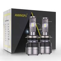 ANMINGPU 2pcs 6000K Headlight Bulbs H7 H4 Led Bulbs H1 H11 9005 9006 H8 880 881