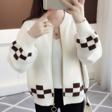 Women Sweater Cardigan Zipper 2019 New Autumn And Winter Short Female Knitted Coat Student Korean Style Red Yellow Blue A58