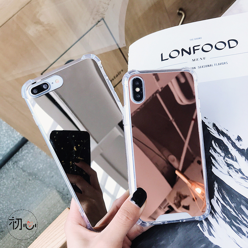 Cell Phone - Gasbag Drop Proof Mirror Case for iphone XR 7 8 XS MAX XSmax X 10 6 6S