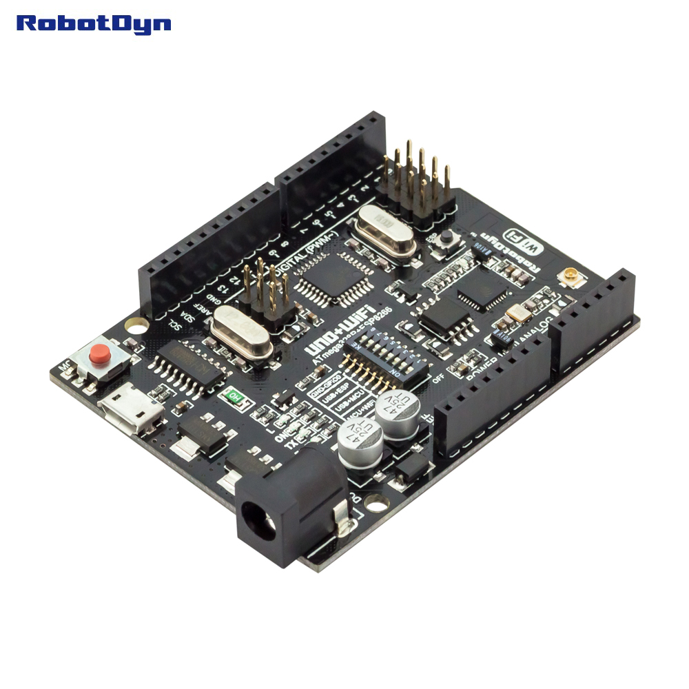 UNO + WiFi R3 ATmega328P + ESP8266 (32 Mb mémoire), USB-TTL CH340G. Compatible pour Arduino Uno, NodeMCU, WeMos ESP8266