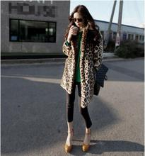 Hot new fashion high quality sexy leopard coat women winter jacket luxury fur coat female jacket coat
