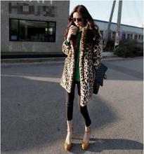 Hot new fashion high quality sexy leopard coat women winter jacket luxury fur coat female jacket