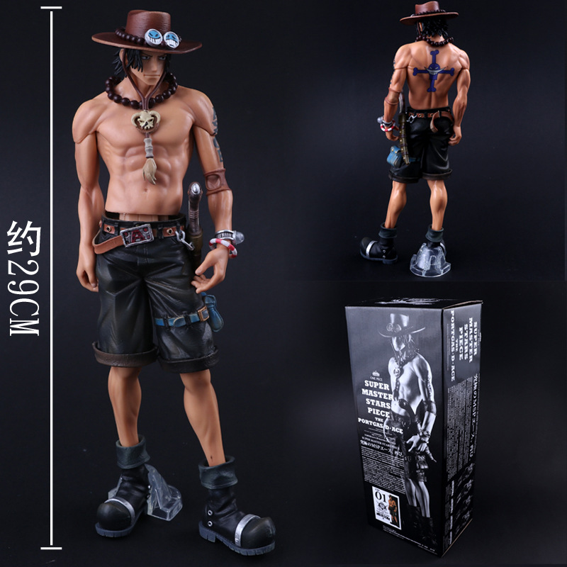 Anime One Piece Big Size 30cm Super Master Stars Piece the  Portgas D Ace PVC Figure Collectible Model ToysAnime One Piece Big Size 30cm Super Master Stars Piece the  Portgas D Ace PVC Figure Collectible Model Toys