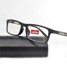4c041409a6ad8 Alta calidad Unisex lente Multifocal progresiva gafas de lectura hombres  mujeres presbicia hipermetropía lentes bifocales con ca.