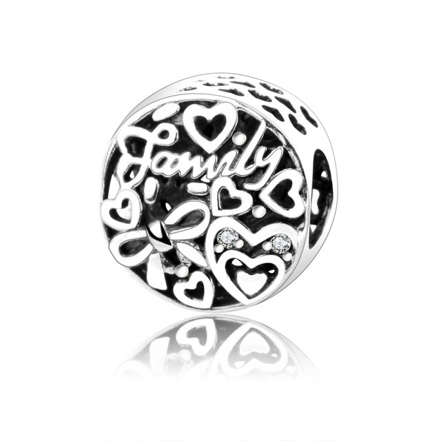 251cced08 ... aliexpress 2017 autumn collection 925 sterling silver love family heart  charm beads fit original pandora charms