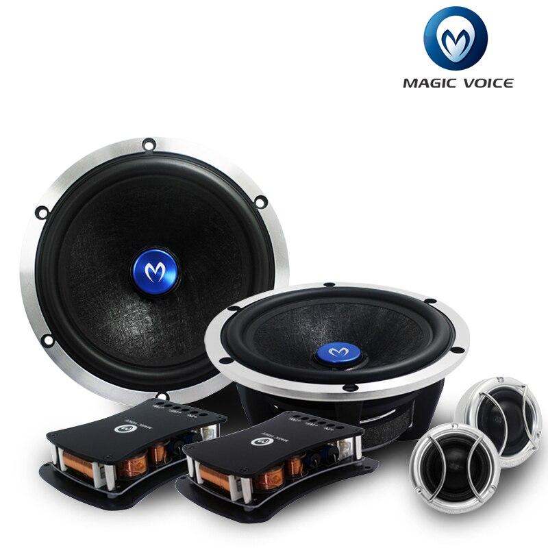 Волшебный голос автомобильные Динамик компонент 6.5 дюймов 200 Вт Hi-Fi частота Аудиомагнитолы автомобильные Динамик набор из 2 ...