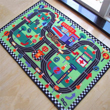High Quality Car Racing Circuit Urban Road Traffic Baby Play Mats Crawling Rug Carpet Educational Toys For Kids Boys Play Games(China)