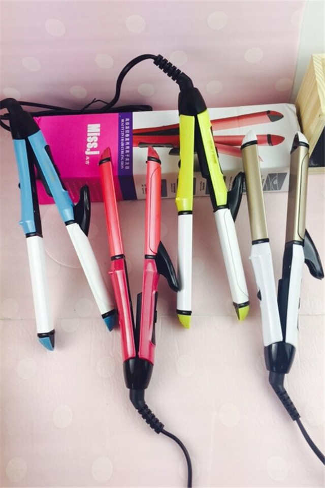New Styling tools (curler & Straightener 2 in 1) straightening Iron & curling Iron hair styles rollers hair straightener irons 3 in 1 professionals tourmaline ceramic hair straightener straightening corrugated iron hair curler styling tools km1213