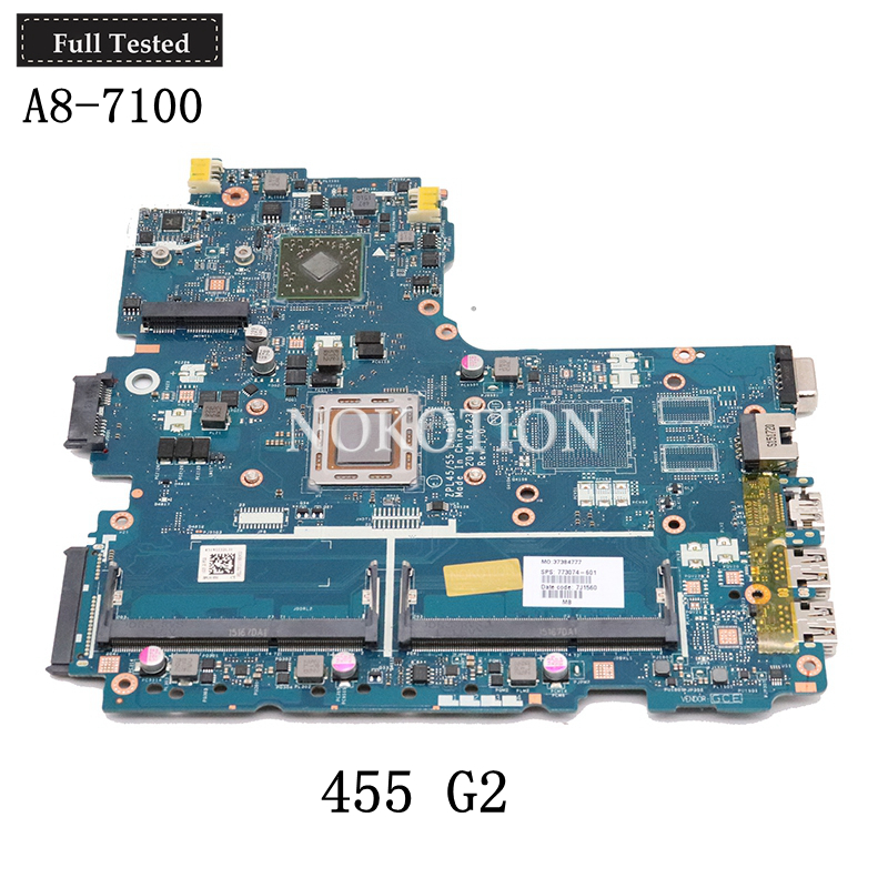 NOKOTION ZPL45 55 LA-B191P 773074-601 773074-001 For <font><b>HP</b></font> Probook <font><b>455</b></font> G2 laptop <font><b>motherboard</b></font> A8-7100 CPU ddr3 image