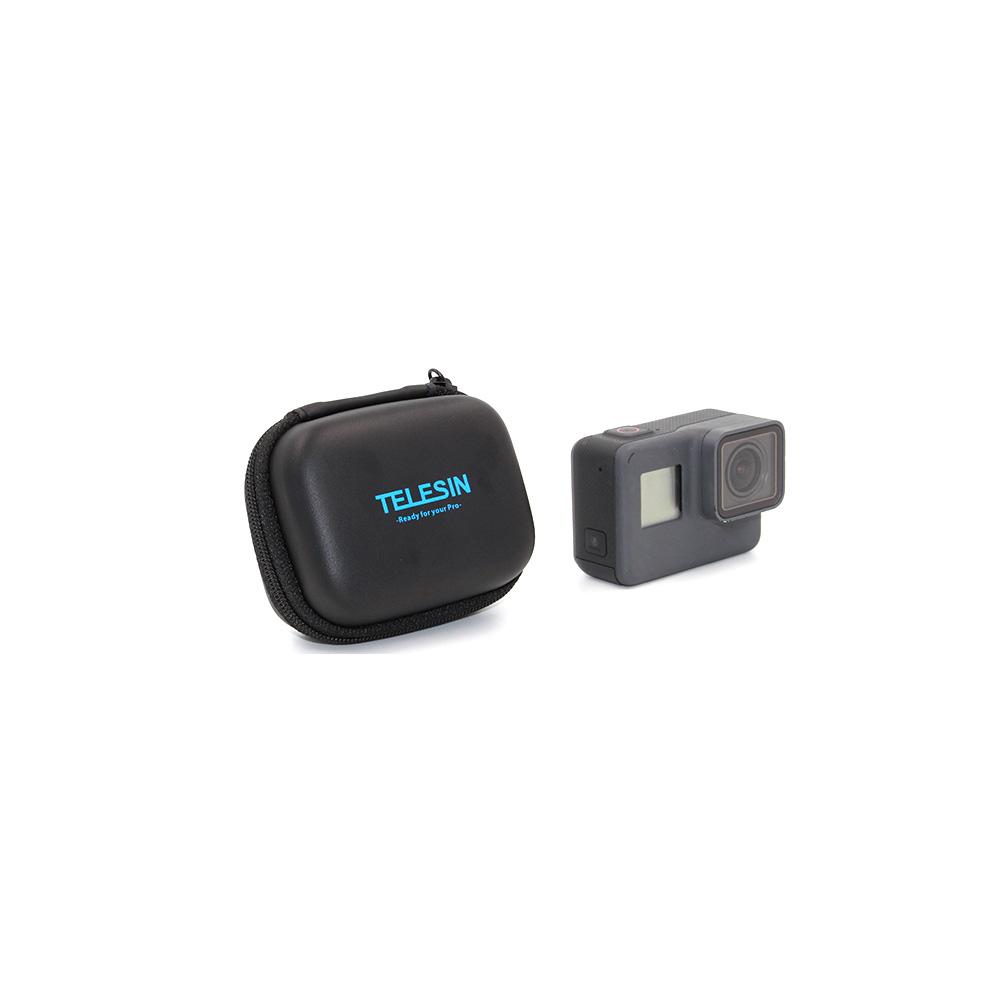TELESIN-Black-Mini-Portable-Protective-Camera-Case-Bag-Carrying-Storage-Box-Lens-Cover-Cap-Pack-of (2)