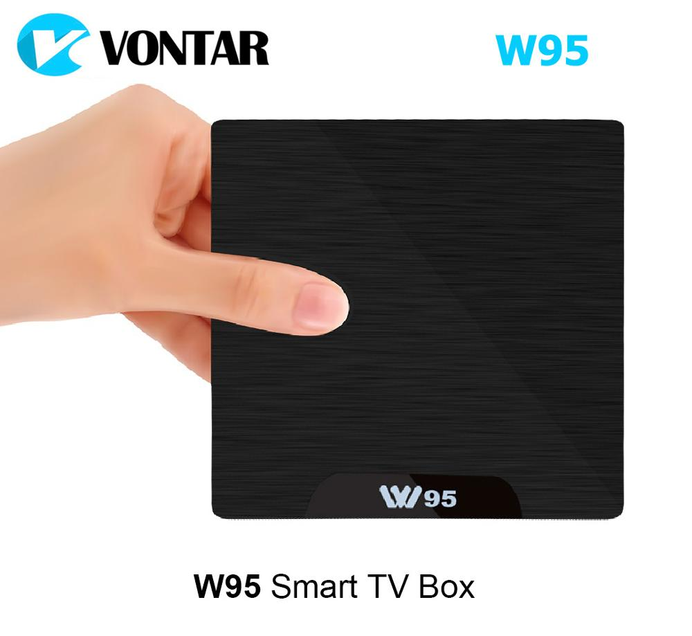 Android 7.1 TV Box 2GB 16GB Amlogic S905W Quad Core 2.4G WiFi H.265 4K 30fps VP9 Media Player 2G/16G 1G/8G VONTAR W95 IPTV android 6 0 tv box t95x amlogic s905x 2g 8g 2g 16g quad core 100lan wifi h 265 16 1 full pre installed media player box
