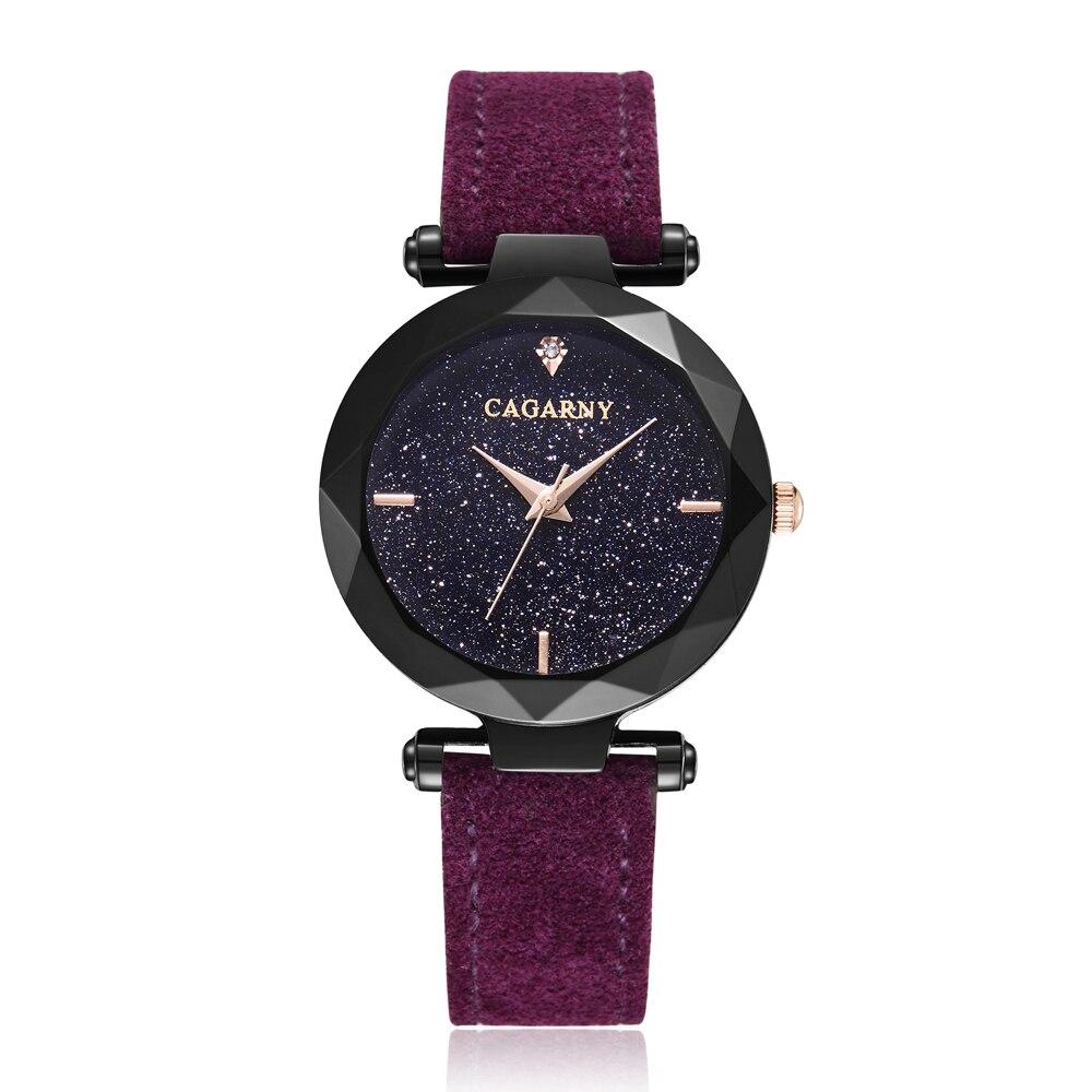 24cb51dffd9 Compre Céu Estrelado Mulheres Relógios Moda De Quartzo Relógio De ...