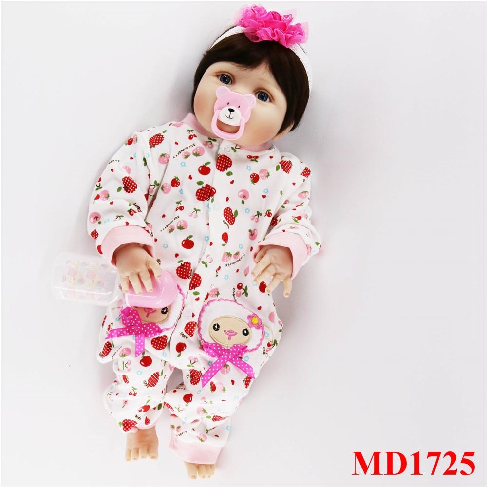 56 cm corps complet silicone bebes fille poupées mignon cheveux courts réel doux toucher vivant reborn bébé jouets pour enfants cadeau d'anniversaire - 4