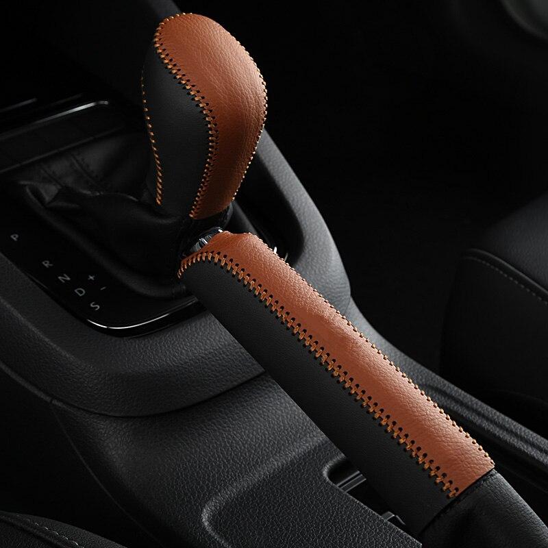 Auto Gear Lever Handbrake Cover For VW Jetta MK6 MK7 Magotan Polo Passat B6 B7 Touaregu Tiguan Scooby Doo Beetle Golf MK6 7