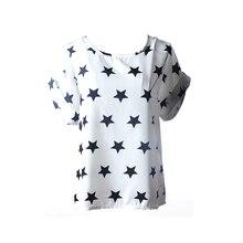 Полоску взрыва модели шифон горячей свободные футболки дамы топы новые в