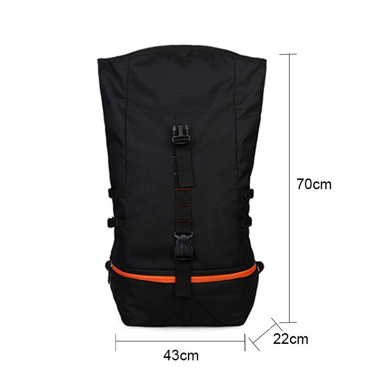 Sac à dos de Sport en plein air hommes grande capacité sac à dos de basket-ball Rugby randonnée Double sac à bandoulière ordinateur portable sac à dos formation Pack - 6