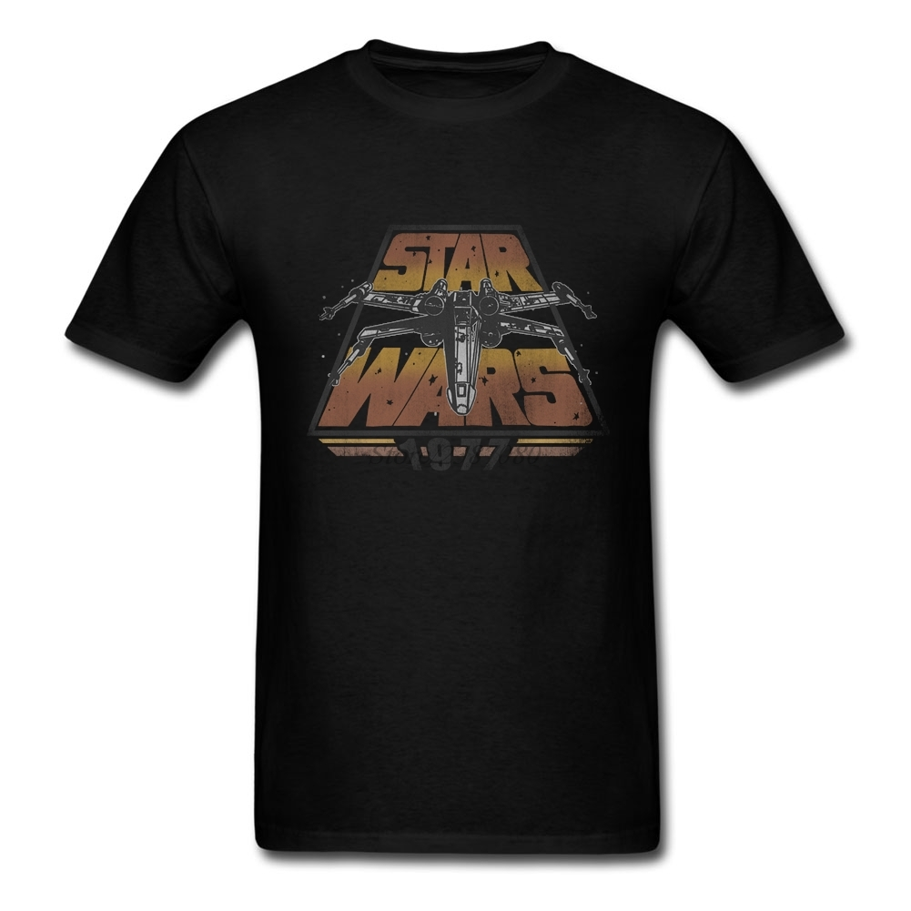 Star Wars 1977 T Shirt Short Sleeve Custom Men's T shirts 2019 New Swag Cotton Crewneck Big Size  Men's Shirts-in T-Shirts from Men's Clothing on AliExpress - 11.11_Double 11_Singles' Day 1