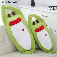 One Piece Cute Down Cotton Cushion Stuffed Love And Pout Frog Plush Toys Cartoon Sleeping Pillow Soft Animals Dolls