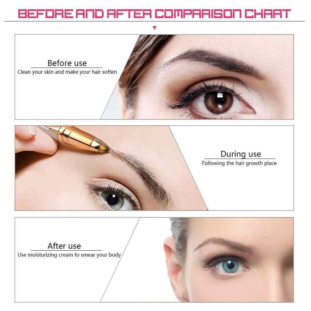 口紅形電気眉毛トリマーシェーバー完璧な眉ポータブル電気目眉整形女性のための船をドロップすること