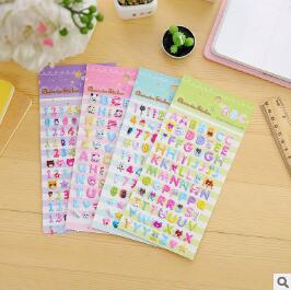 Letters OR Arabic numbers kids rooms bubble Stickers school study Scrapbook Puffy foam Stickers YH1020-2
