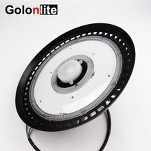 Golonlite sensor LED high bay light 200W 150W 100W 1-10V dimmable UFO LED lamp IP65 waterproof CE Lumields SMD3030(China)